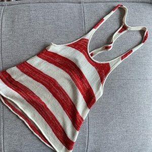 Dolce Vita Bold Stripe Drop Arm Racerback Tank | S